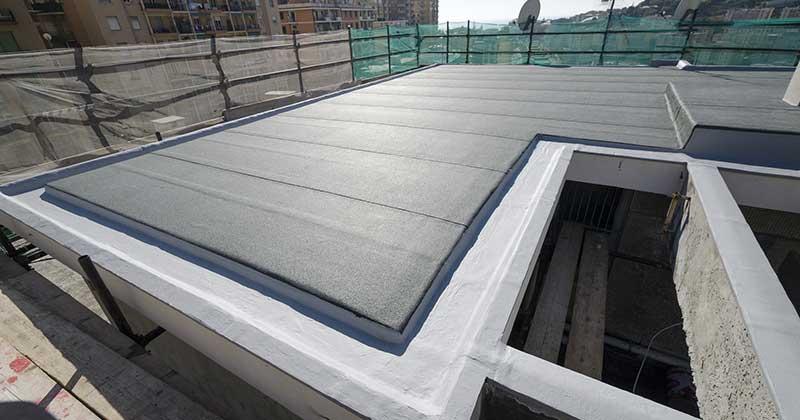 Postavljene hidroizolacione membrane na krovu
