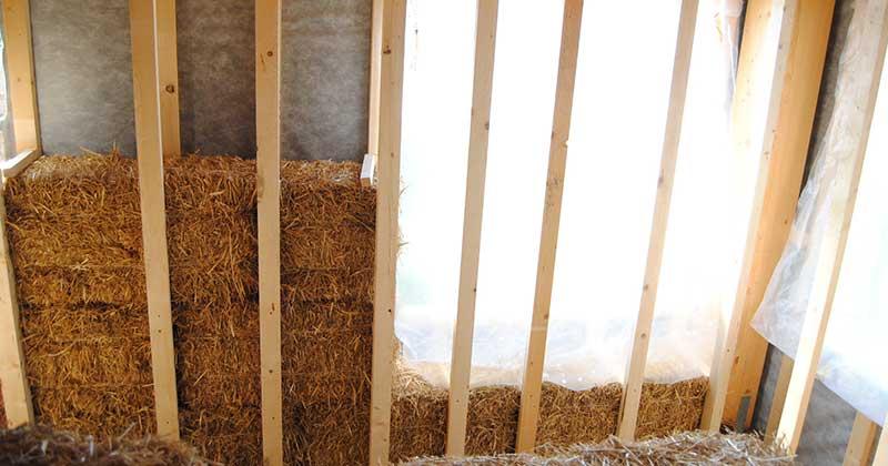 Ugradnja bala slame kao izolacije