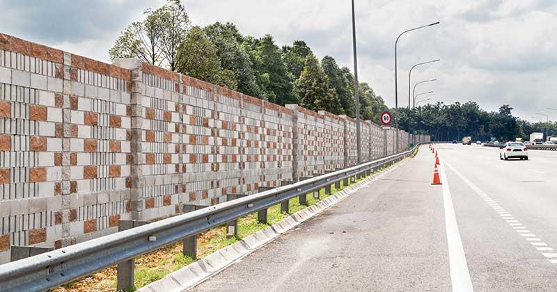 Betonski zid kao zaštita od saobraćajne buke