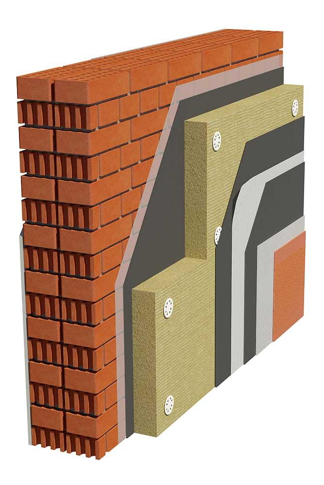 Kontaktna fasada sa kamenom vunom (demit fasada)