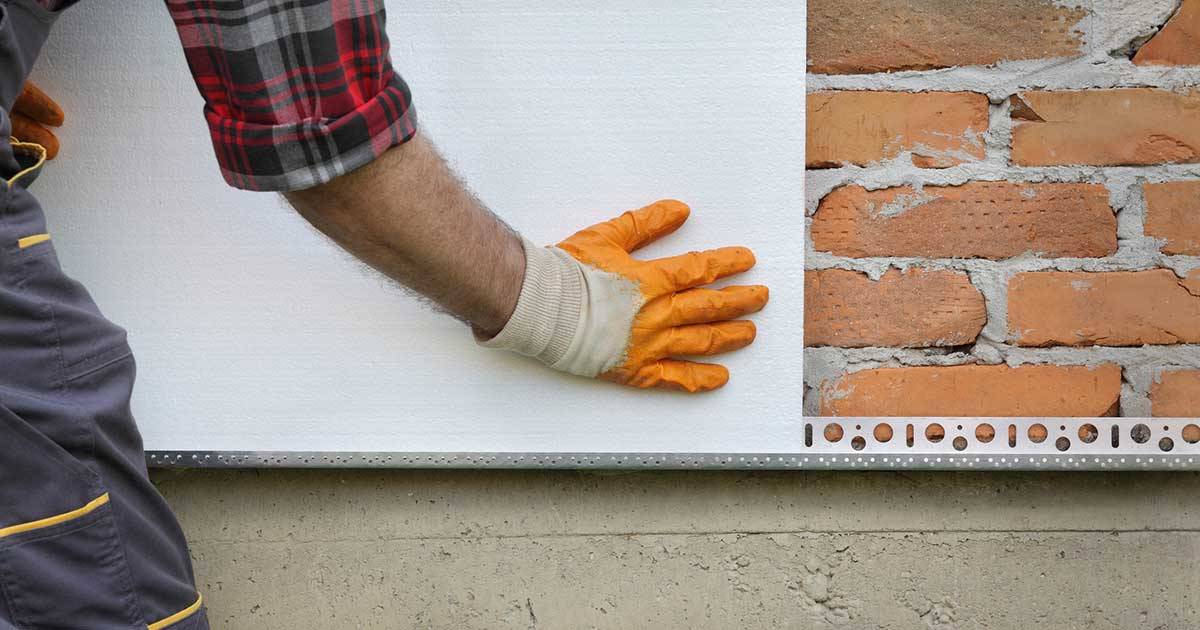 Lepljenje ploče stiropora na zid