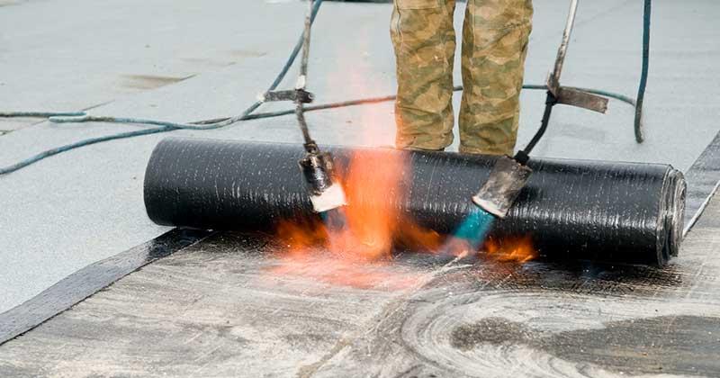 Ugradnja bitumenske trake na ravan krov